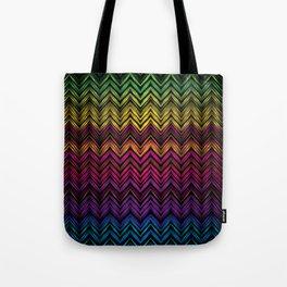 Neon Chevron Tote Bag
