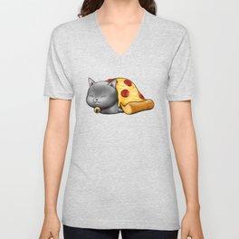 Purrpurroni Pizza Unisex V-Neck