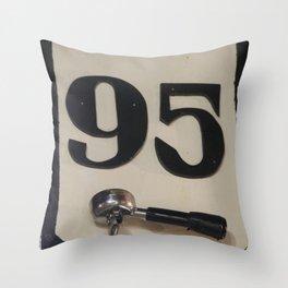 95 Coffee Throw Pillow