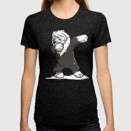 Funny Dabbing Old English Sheepdog Dog Dab Dance T-shirt