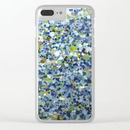 Leo Carrillo Dotted Beach Pattern Clear iPhone Case