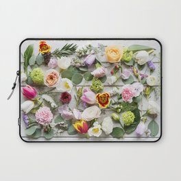 Colorful Boho Floral Layout Design Laptop Sleeve