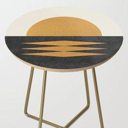 Sunset Geometric Midcentury style Side Table