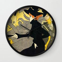 Toulouse Lautrec Divan Japonais music hall Wall Clock