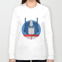 optimus prime Long Sleeve T-shirts featuring Optimus Prime Dots.  by Federico Giuliani