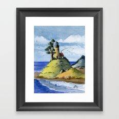 Peaceful Lighthouse IV Framed Art Print