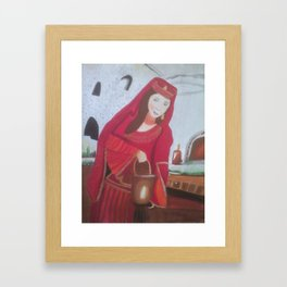 Queen Esther, a Hebrew Israelite Handmaiden Framed Art Print