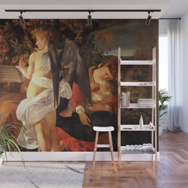 Merisi da Caravaggio - Ruhe auf der Flucht nach Ägypten Wall Mural