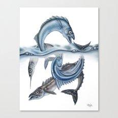 INKYFISH - Fish scraps Canvas Print