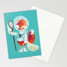 Catch the falling stars Stationery Cards