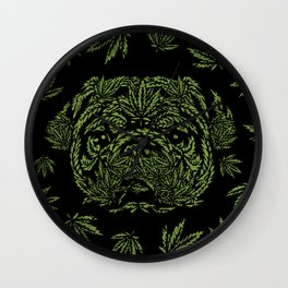Marijuana of Pug Wall Clock