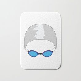 Swim Cap and Goggles Bath Mat