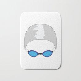 Swim Cap and Goggles Bath Mat