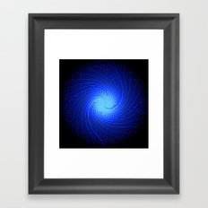 Blue Spirit Circle 2 Framed Art Print
