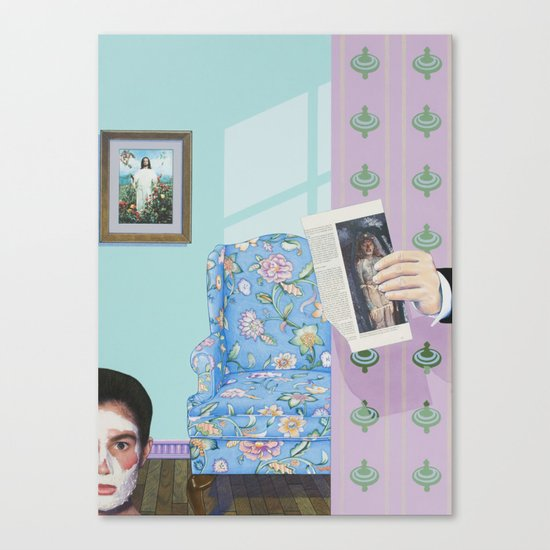 i scared her with the dead guy Canvas Print