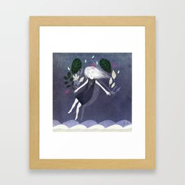 Gennine and her garden Framed Art Print