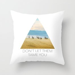 Goodbye Summer Throw Pillow