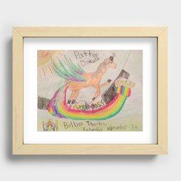 Patton Oswalt Balboa Theatre Rainbow Unicorn Poster Recessed Framed Print