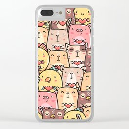 Sweet Pets Clear iPhone Case