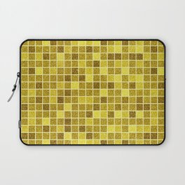 Gold glitter mosaic, geometric gold sparkle abstract pattern Laptop Sleeve