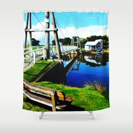 Footbridge Shower Curtain