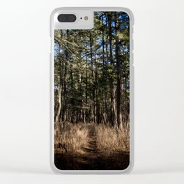 Whispering Pines Clear iPhone Case