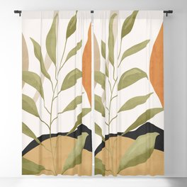 Tropical Leaf- Abstract Art 19 Blackout Curtain