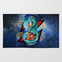 dbz Area & Throw Rugs featuring DBZ - Goku Super Saiyan God by Mr. Stonebanks
