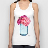 rose Tank Tops featuring Perfect Mason  by Xchange Art Studio