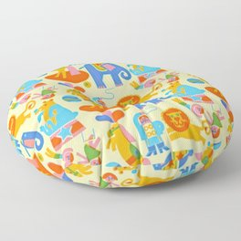 CIRCUS PATTERN ACROBAT Floor Pillow