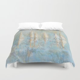 Marbled Yachts Duvet Cover