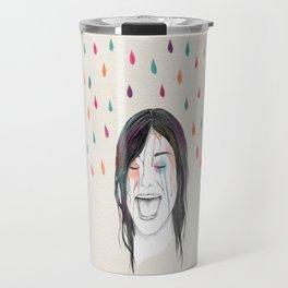 Les filles rient sous la pluie Travel Mug