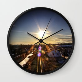Sunny Midwinter Afternoon Wall Clock