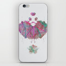Inknograph XII - Inkblot Art iPhone Skin