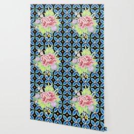 Brocade Bouquet Wallpaper