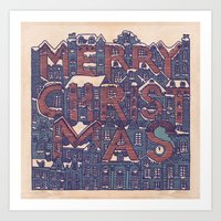 merry christmas Art Prints featuring Merry Christmas! by Duncan Barrett