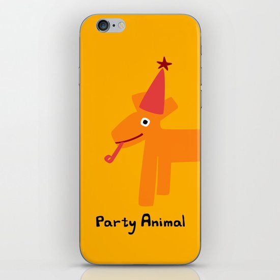 Party Animal-Orange iPhone & iPod Skin