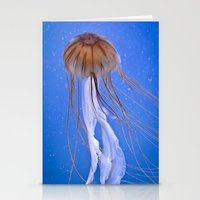 jelly fish Stationery Cards featuring Jelly fish by Cozmic Photos