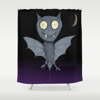 bat Shower Curtains featuring Bat by Bwiselizzy