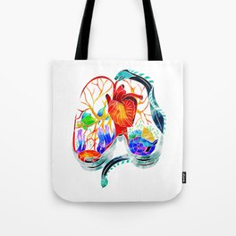 Breathe it in // anatomical lungs illustration Tote Bag