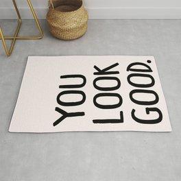 You Look Good Bathroom Art Rug