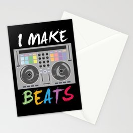 I make beats - Cool DJ Music Beat Producer Gift Stationery Cards