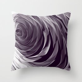 Purple Spiral Pattern Throw Pillow