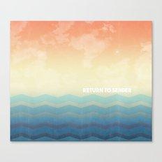 Return to Sender Canvas Print