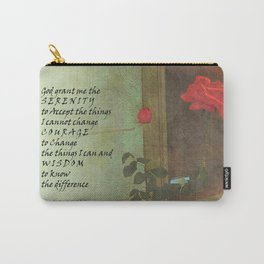 Serenity Prayer Rose and Door Carry-All Pouch