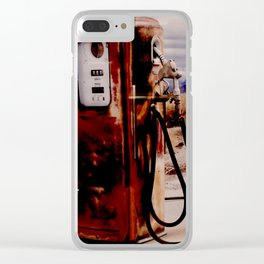 Old Gas Pump Clear iPhone Case