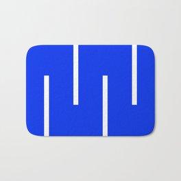 Abstract Minimal Retro Stripes Blue Bath Mat