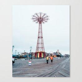 Coney Island: Parachute Jump Canvas Print
