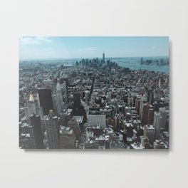 New York City from up high. Metal Print