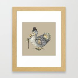 Grumpy Dodo_light Framed Art Print